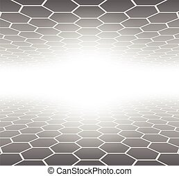 Abstract 3D Background hexagons grey pattern, vector...