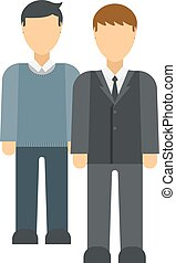 Business advisor vector illustration - Group of business...