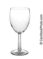 Wine glass 1 with path - Empty wine glass isolated on a...