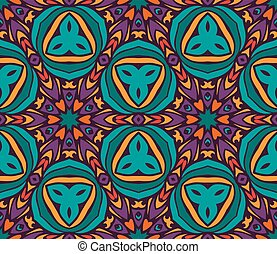 Abstract ethnic geometric pattern design