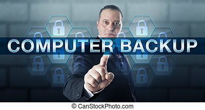 Data Manger Pushing COMPUTER BACKUP