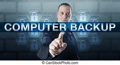 Data Manger Pushing COMPUTER BACKUP