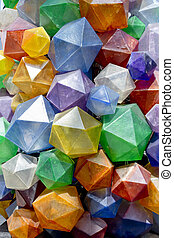 Colorful Triangular background texture. Photo of a colorful...