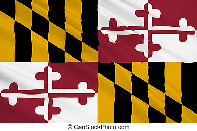 State Flag of Maryland - The national flag of of Maryland,...