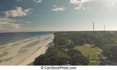 Philippine beach Aerial view Anda City - Philippine beach...