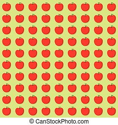 red apple pattern design
