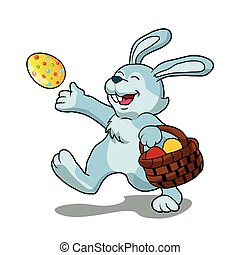 rabbit with Easter basket