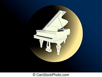 Moonlight Sonata - against the background of the night sky...