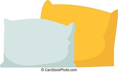 Pillow isolated vector illustration. - Colorful pillows...
