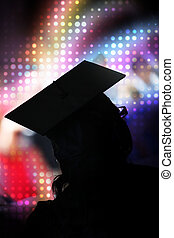 School Graduate Silhouette - A recent university or high...