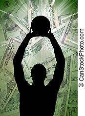 Professional Basketball Contract - A silhouette of a...