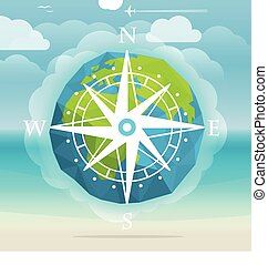 Vacation travelling concept. Travel vector illustration