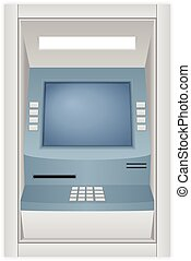 ATM machine on a white background