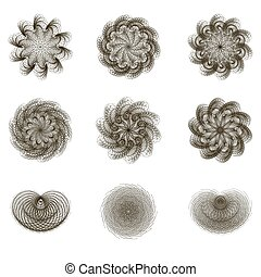 Circular pattern - Set of decorative elements for your...