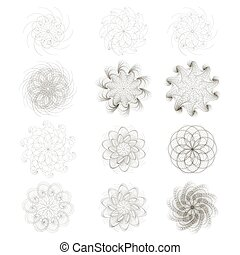Set of decorative character - The circular set for design...