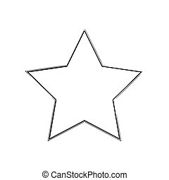 star patriot symbol grunge vector shape. Vector star. Black...