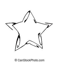 star patriot symbol grunge vector shape Vector star Black...