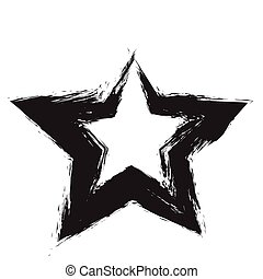 star patriot symbol grunge vector shape Vector star Black...