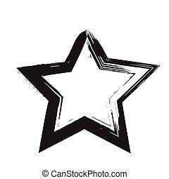 star patriot symbol grunge vector shape. Vector star. Black...