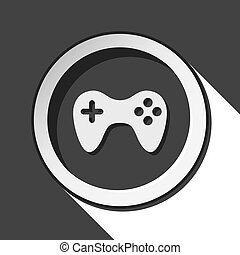 icon - game pad with shadow