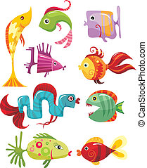 fish - vector illustration of a fish set