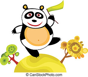 panda - vector illustration of a cute panda