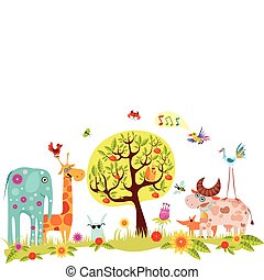 animals - vector illustration of a animals
