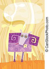 sheep - vector illustration of a sheep