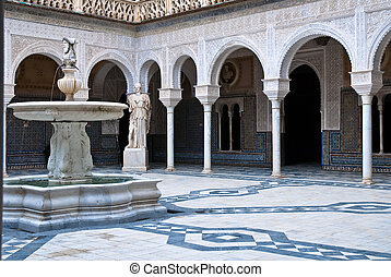 The interior patio of Casa de Pilat - Casa de Pilatos...
