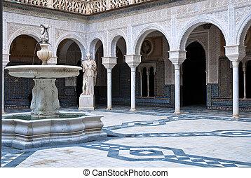 The interior patio of Casa de Pilat - Casa de Pilatos...
