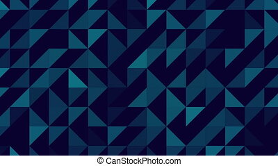 Abstract indigo triangles looping - Figures triangles...