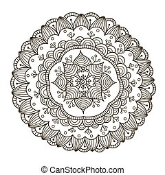 Beautiful Deco Floral Mandala. Vector Round Ornament Pattern