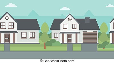 Background of suburban houses - Background of suburban...
