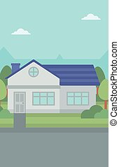 Background of suburban house - Background of suburban house...