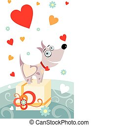 valentine card - vector illustration of a valentine card