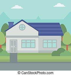 Background of suburban house - Background of suburban house...