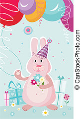 birthday card - vector illustration of a birthday card