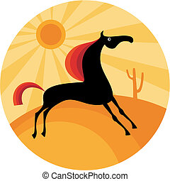horse - vector illustration of a horse