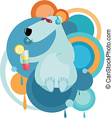 polar bear - vector illustration of a polar bear