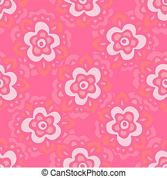 Cute pink Seamless floral pattern