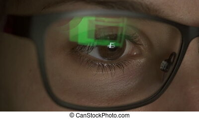 Close up of a young female browsing on her computer