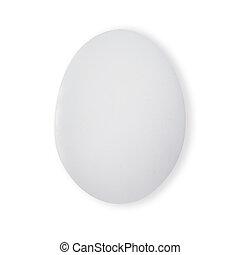 One white egg