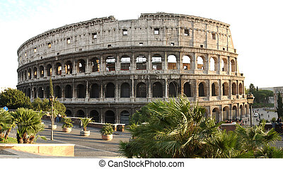 coliseum by day - Roman colliseum in Italy...