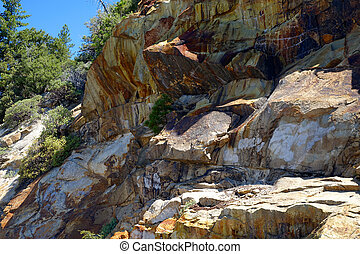 Kings Canyon - California - Rocky cliff at Kings Canyon...