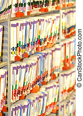 file folders - archived medical files...