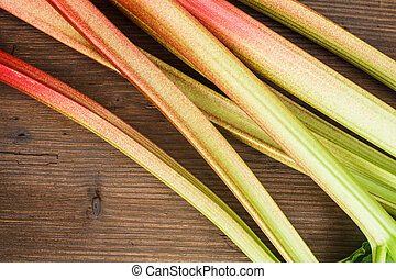 The rhubarb close up
