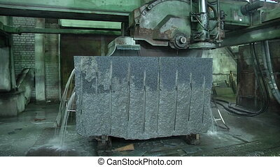 Granite stone cut saw - Granite processing in manufacturing....