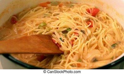 Cooking Pasta Dish