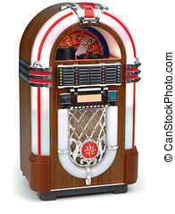 juke box on white - 50\'s era juke box