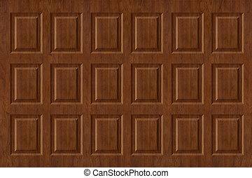 Raised Wood Paneling - Raised walnut wall paneling texture